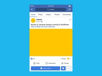 Facebook Mobile Post Mockup