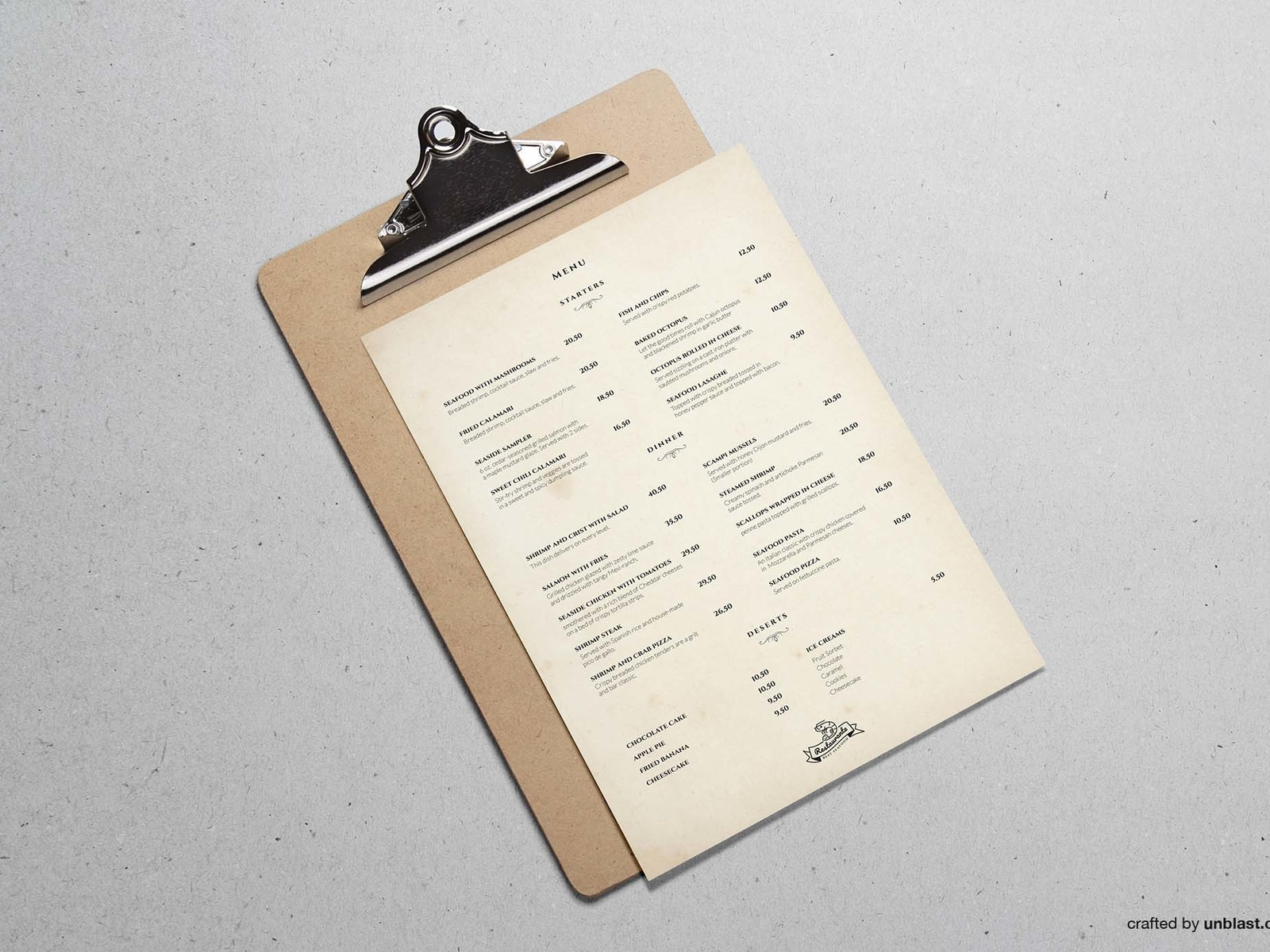 restaurant menu template by unblast dribbble dribbble