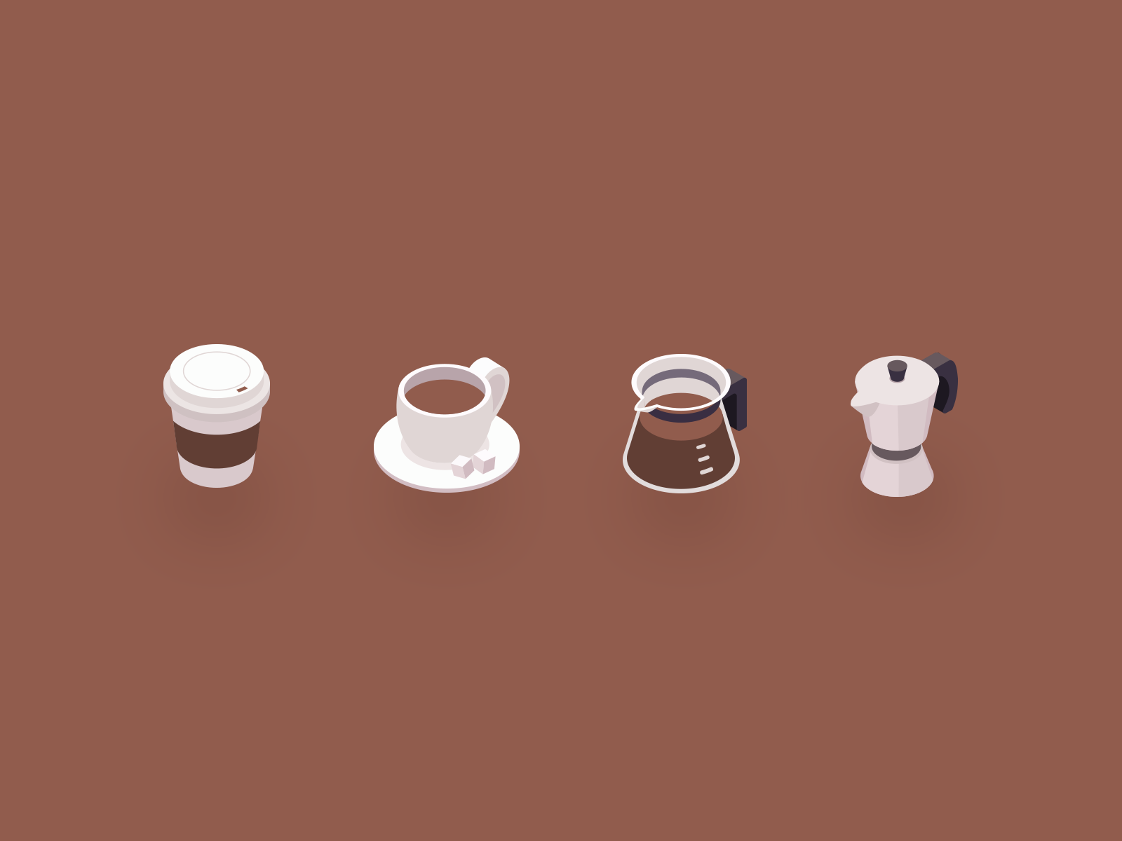 Coffee isometric icons by CDwalker on Dribbble