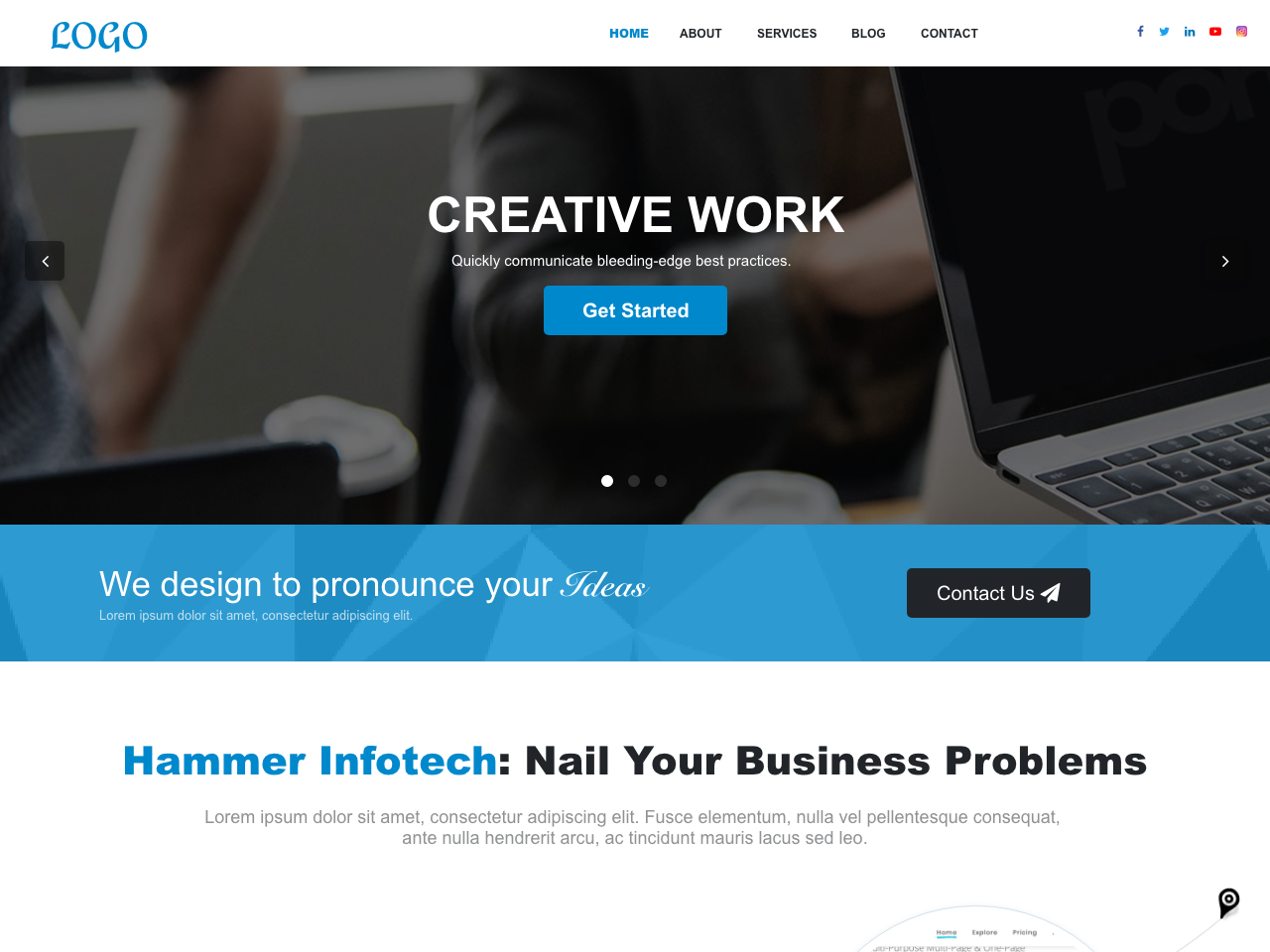 Corporate Website Design by Ideas From SAM on Dribbble