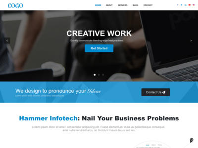 Corporate Website Design designs, themes, templates and