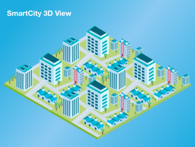 Isometric Smart City 3D View