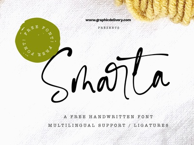 Smarta Free Handwritten Font cool font cool handmadefont ink lettering modern font script font font freebie free