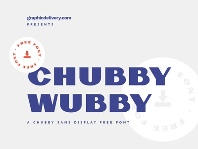 Chubby Wubby Free Font badge colors packaging coffee rooster iluustration cool retro vintage font