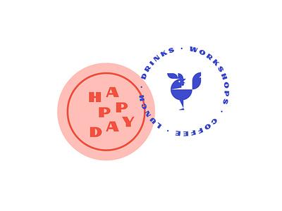 Happy Day Logo / Badge typography vector font illustration icon badge retro download free logo