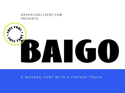 Baigo Free Font retro font retro freefont download freebie free font heavy sans