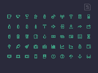 Stroke Gap Icons Vol 3
