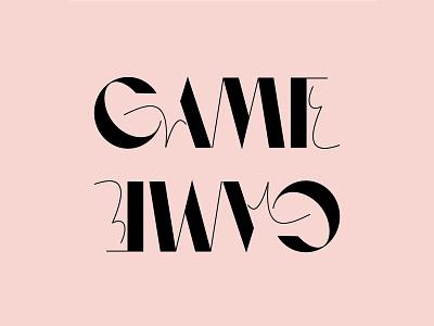 Game Type Design branding logo font logomark typeface lettermark lettering type design type