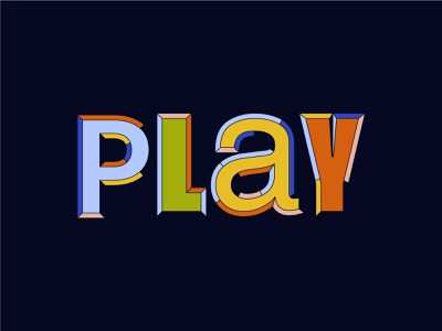 Play ing with type icons experiment typedesign lettermark retro type lettering letters
