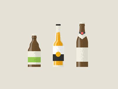 Beer Bottle diy texture grain illustration flat paulaner corona duvel beer