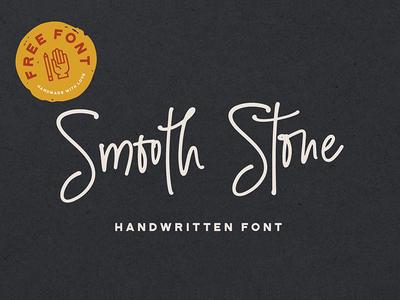 Smooth Stone Free Handwritten Font handmade retro coolfont linefont script font freebie free