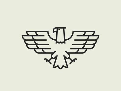 Eagle Mark retro modern badge monoline line pictogram sign mark icon logo eagle