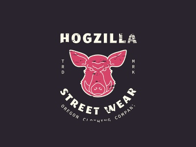 Wild Pig Badge texture retro logo badge monoline icon illustration pig wild hogzilla