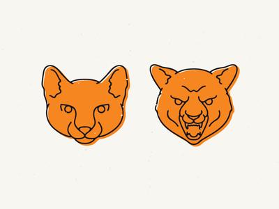 Cats graphicdelivery vlad cristea illustratin vector pictogram symbol logo icon retro angry wild cat