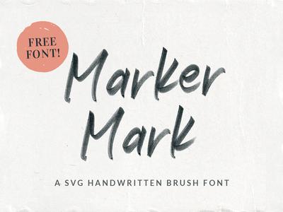 Marker Mark SVG Font lettering brush typography svg font freebie textured marker free font
