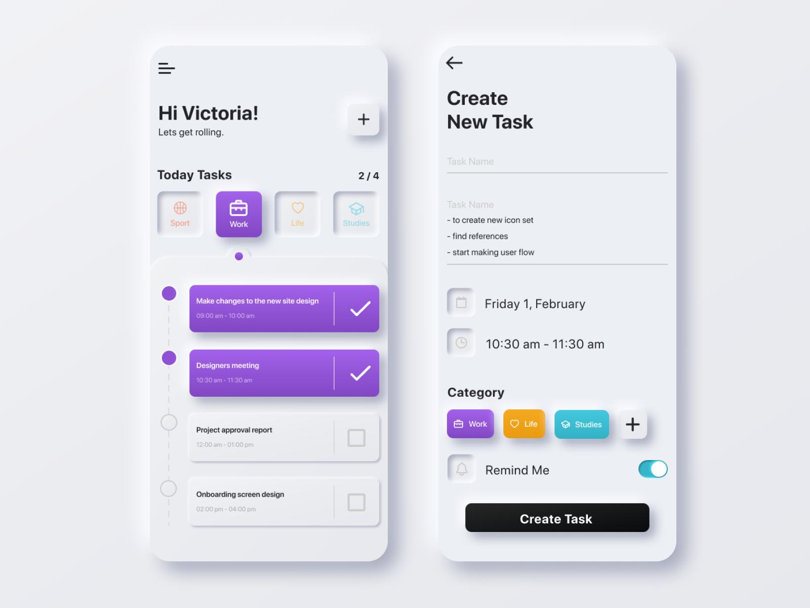 To Do App Light By Viktoria Kosmovich On Dribbble