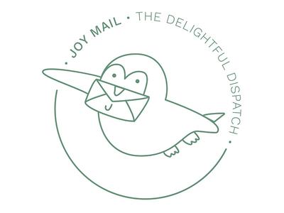 Joy Mail Logo Mark shillo melbourne shillington melbourne shillington mail delivery delivery mail logo mark illustration logo design logo graphic design design bird bird illustration bird sketch