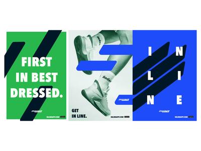 Inline Rollout—Posters streetwear sneakers poster design posters concept brief brand identity branding design graphic design shillington melbourne