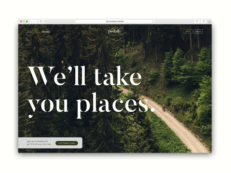 Pedally Bike Share Homepage homepage design homepage website typography ux shillo melbourne concept brief shillington melbourne ui graphic design design