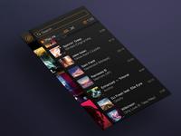 Soundcloud App — My Music List (Right Sidebar)