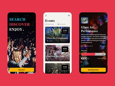 Mobile Event App concept design interaction design mobile app design modern design app design app concept ux interface design ui event app mobile ui mobile app mobile design