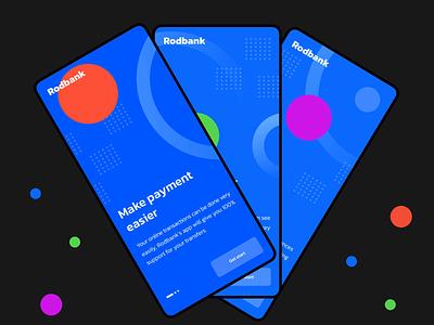 Banking App Onboarding bank app bank banking interaction design mobile ui mobile design mobile app design mobile app app design app