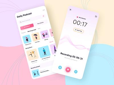 Podcast Mobile App concept podcast app podcast mobile ui mobile design mobile app design mobile app app design app