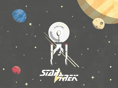 Star Trek Alternative perseverance mars illustraton tbt vector poster stars planets sci fi nasa space star trek