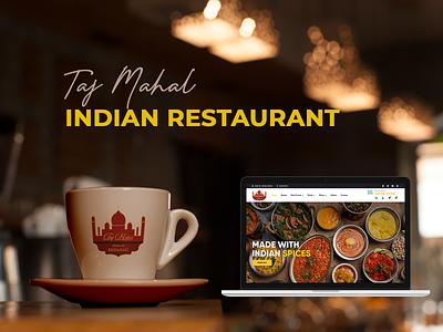 TAJ MAHAL - INDIAN RESTAURANT design icon web ui ux colors branding