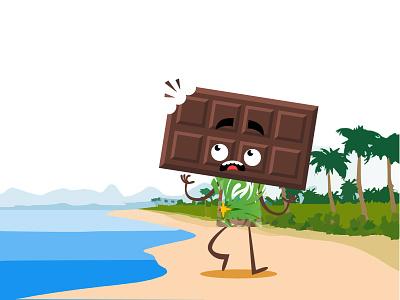 Chocolaty Boy visual design. vectors gifts inspiration illustration toys beach characters flat designs