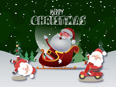 Merry Christmas  Happy Holidays santa claus christmas snowman holiday cards christmas card christmas ball illustration