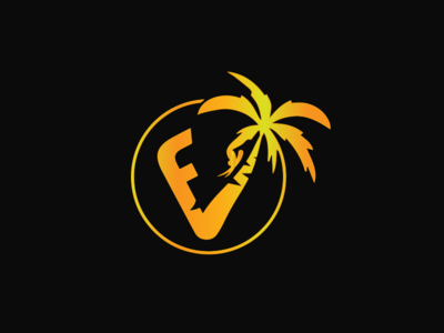Florida Vibez 2nd Anniversary glow in the dark inspiration uidesign golden gradient flat glow icon illustration branding logo