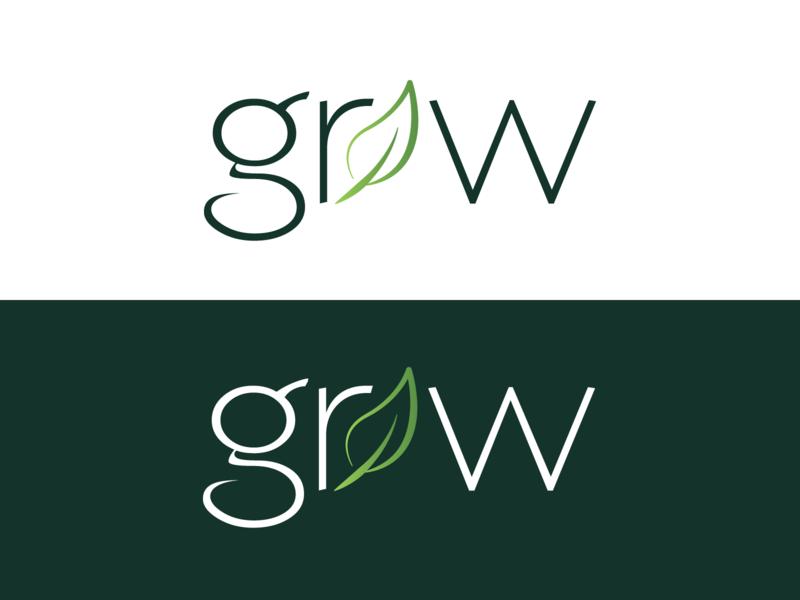 Grow Logo Design type website banner adobe illustrator cc logo design website icon app web vectors ui ux illustration logo typography design branding