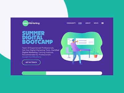 Marketing Landing Page ui web icon typography logo illustration branding landing page design