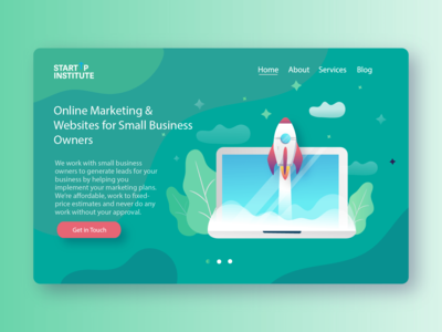 StartUp Institute - Marketing Agency Landing Page