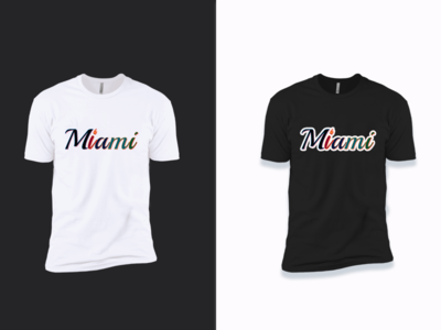 Miami T-Shirt Design graphic design logo mark marks vector inspiration logo illustration identity branding design design branding apparel