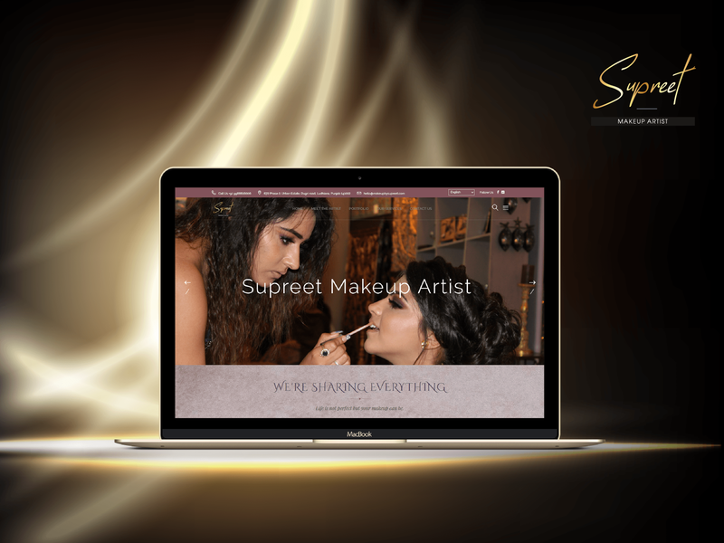 Supreet Certified Makeup Artist 🖌️ make up simple vector makeup website design typography logo makeup artist creative design illustration branding