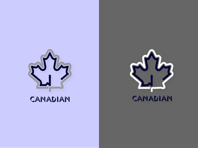 Canadian Finance flag logo typography colors web app icon branding canada canadian vector illustration logo