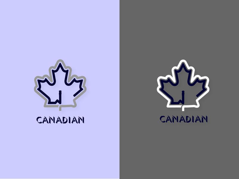 Canadian Finance flag logo typography colors web app icon branding canada canadian vector illustration logo