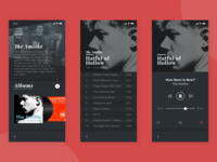 Dark UI Music App