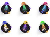 Alien Abduction Icons