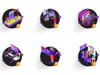 Services icon set