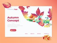 Autumn Landing Page Concept