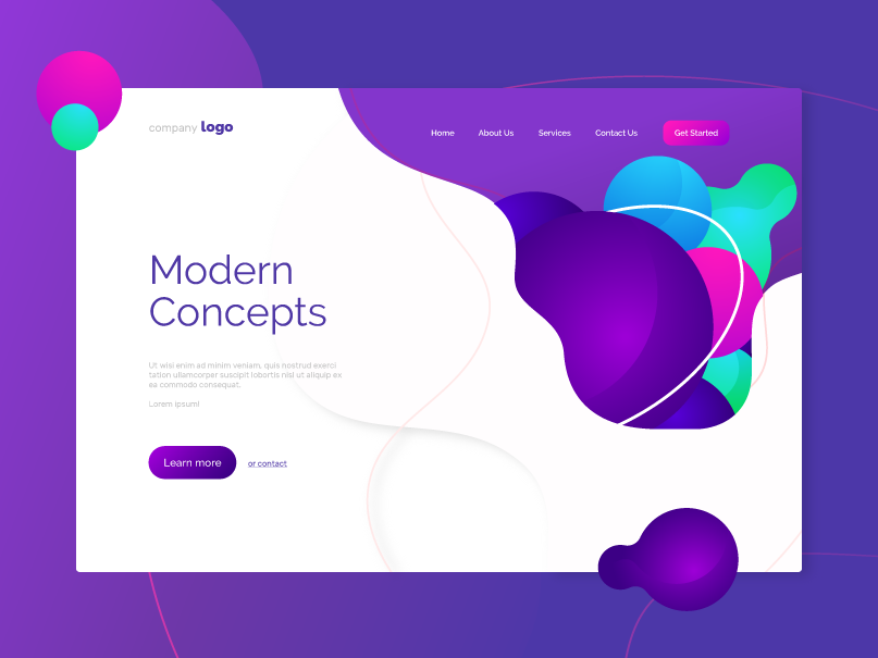 Modern Landing Page Concept by Silviya Radeva on Dribbble