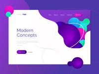 Modern Landing Page Concept