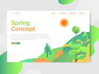 Spring Landing Page Concept