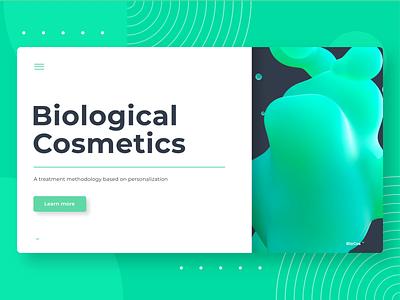 Bio Cosmetics Interaction Design 3d 3d design liquid website web ux interface interaction ui design app