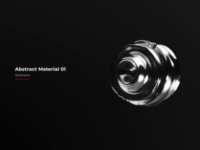 Abstract Materials vol. 01 - Silverene interaction rendering render dynamic noise blender design cinema4d octane motion graphics animation 3d