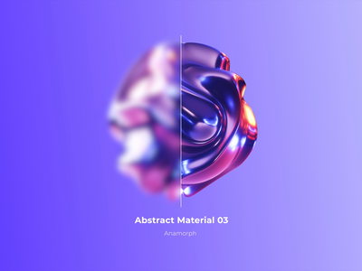 Abstract Materials vol. 01 - Anamorph loop branding interaction octane render octane dynamic animaiton 3d render 3d design abstract art colored render cinema 4d animation 3d design