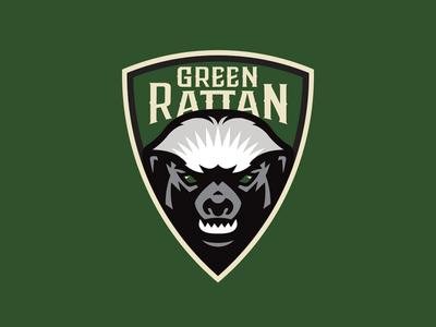 Green rattan Alternate logo sportslogo mellivora capensis ratel streetball basketball card basketball logo honey badger basketball